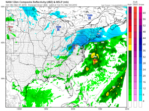 NAM Model Late Week forecast