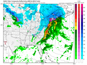 nam84 Snow Ice Rain coming Monday
