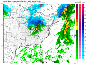 nam841 Snow Possibility Wednesday