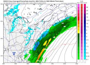 rgem33 RGEM Model Snowfall Forecast