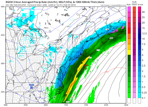 rgem36 RGEM Model Snowfall Forecast
