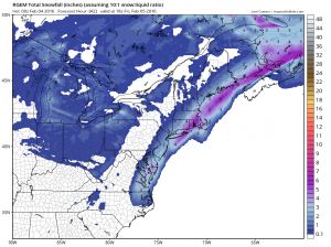 rgemsnow RGEM Model Snowfall Forecast
