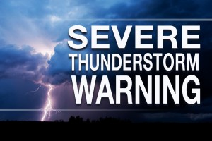 Severe Thunderstorms Moving East