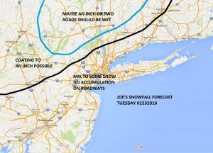 snow02232016 Mixed Precipitation Tuesday