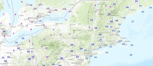 temps NYC Temperature Forecast Sunday Below Zero