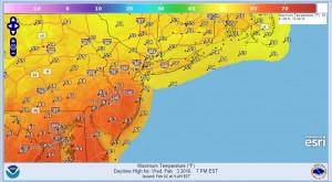 wednesday Flood Watch Central NJ SE Pennsylvania