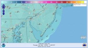 SNOW Winter Weather Advisory NJ South Rt 195