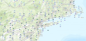 TEMPS Snow Moving But Drying Up