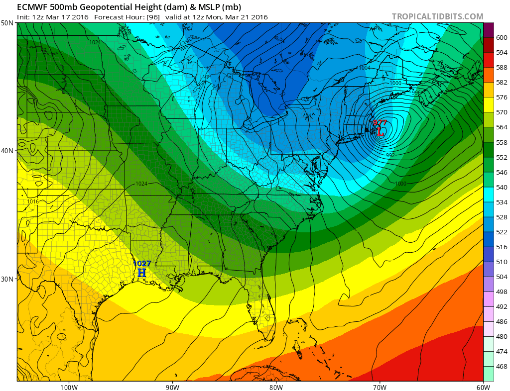 Euro Model Spring Snow Storm Threat