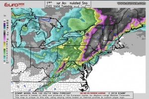 Euro Model Shifts Colder Snow Bullish