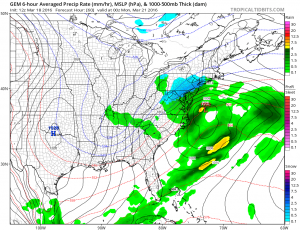 gem60 Weather Model Differences Continue