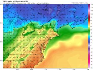 gfs132 Weather Models Downgrade Snow Threat