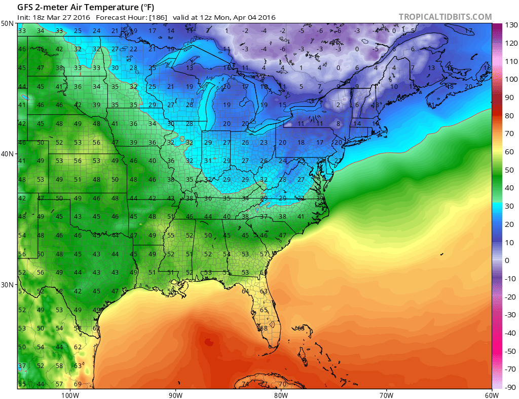Cold Temperatures Next Weekend