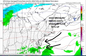 gfs24 Easter Sunday Weather Outlook