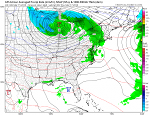 gfs42 Drying Out Showery Pattern