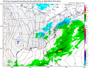 gfs54 Weather Model Differences Continue