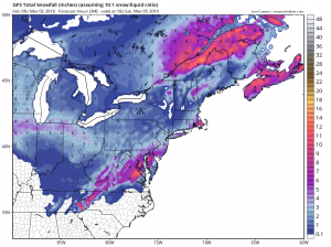 gfssnow Windy Colder Snow Threat Looms