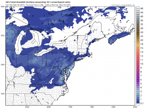Snow Accumulation Maps For Today