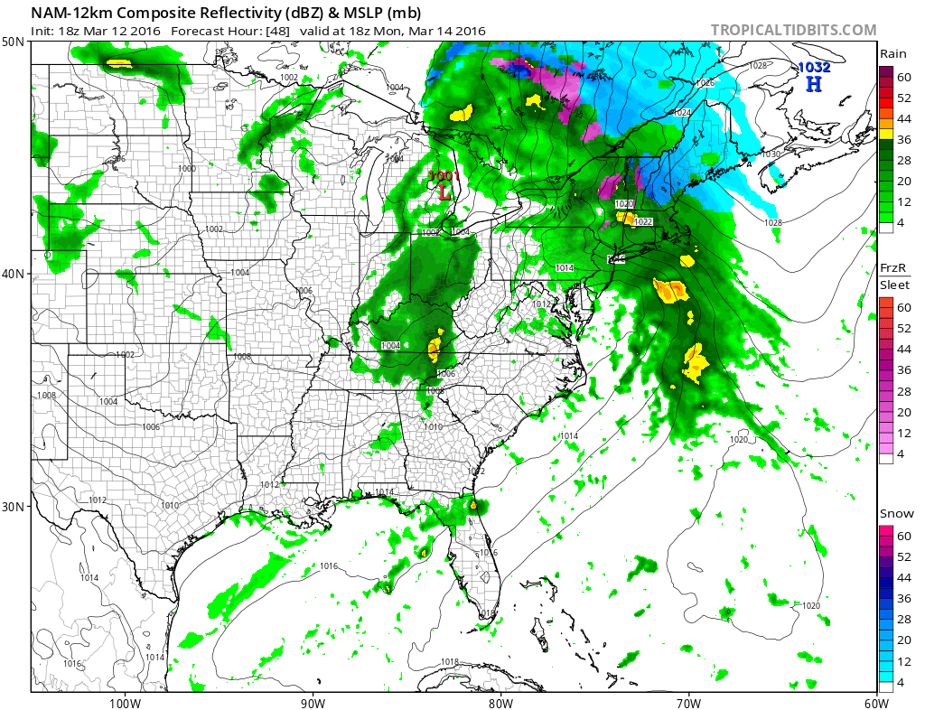 Weather Models Show Typical Early Spring