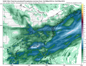 namprecip NAM Model Backs Off Strongly