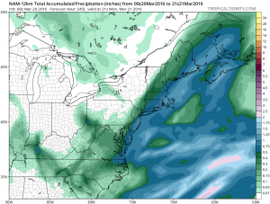 namprecip NAM Model Shows Heavy Snow Long Island