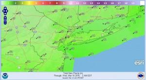 precip Weather Conditions Deteriorate Monday