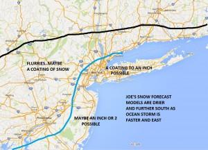 Updated Snowfall Forecast Models East