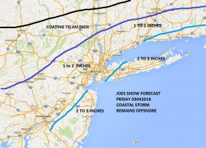 Snowfall Forecast Friday Updated Snowfall Forecast NY NJ CT PA Friday