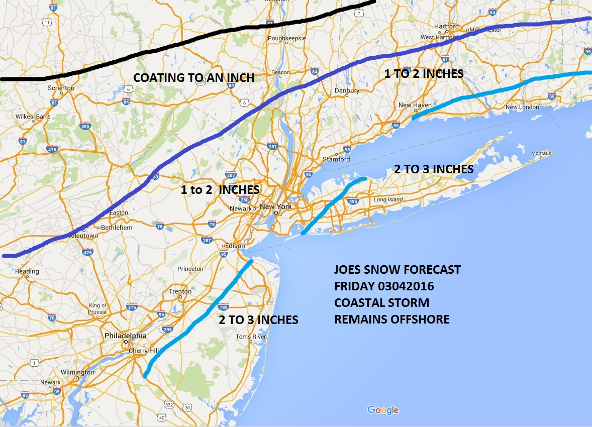 Snowfall Forecast Friday Updated