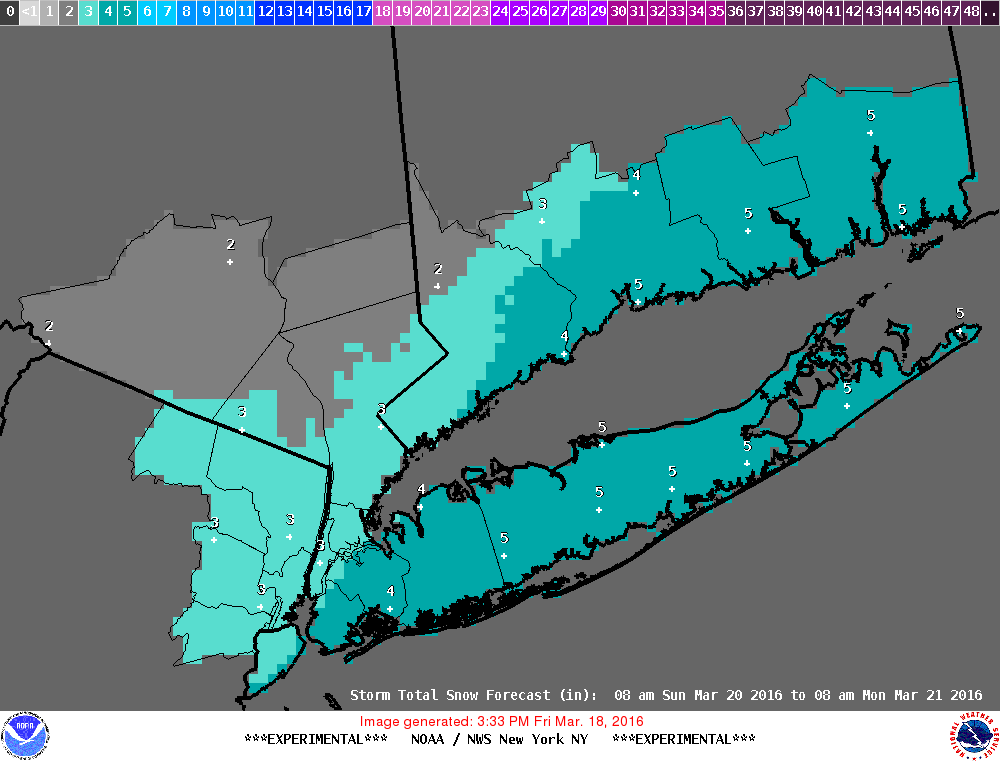 Snowfall Forecast National Weather Service Sunday