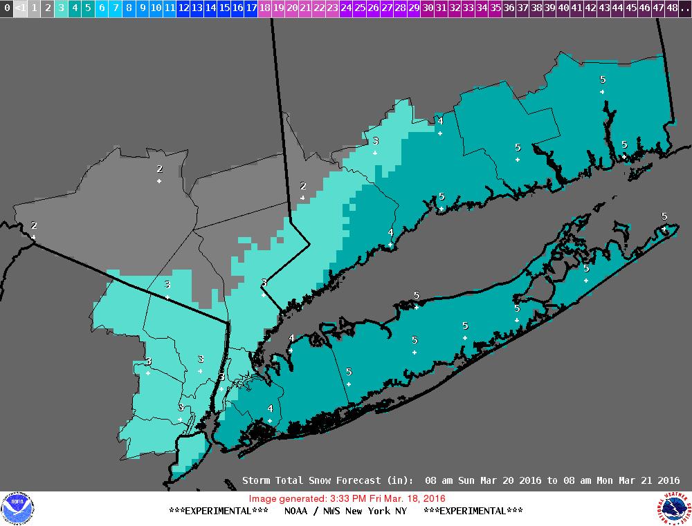 Snowfall Forecast National Weather Service Sunday