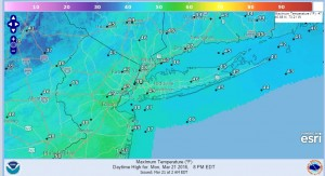temps Snow Winding Down