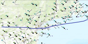 temps Backdoor Cold Front Dropping South
