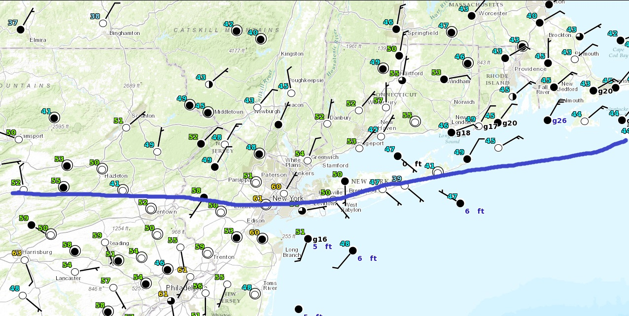 Backdoor Cold Front Dropping South