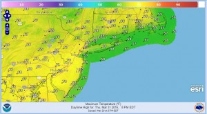 thursday Winds Subside Tonight Warming