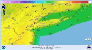 thursday Gusty Winds Warm Temperatures