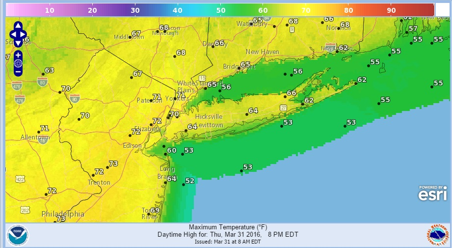 Gusty Winds Warm Temperatures