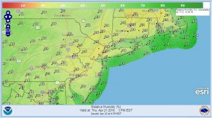 HUMIDITY Fire Risk High Thursday