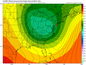 euro120 Euro Model Shows Coastal Low Midweek