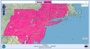 weather forecast red flag warning fire