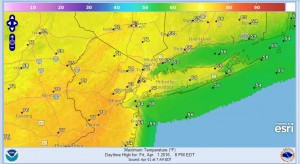 friday High Wind Watch Sunday