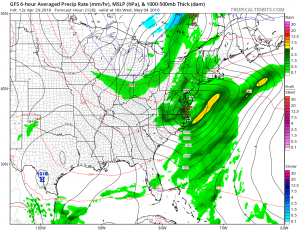 gfs126 GFS Model Shows Noreaster
