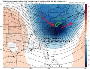 gfs54 Snowfall Forecast Saturday April 9