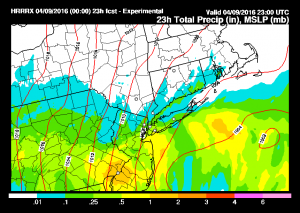 hrrrprecip HRRR Model Saturday View