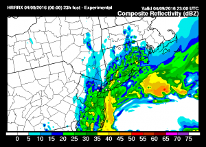 hrrrradar HRRR Model Saturday View