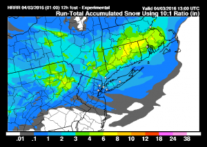 hrrrsnow Thunderstorms Snow Wind Latest Snow Maps