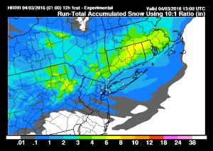 hrrrsnow Thunderstorms Snow Wind Latest Snow Maps
