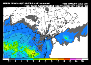 hrrrsnow HRRR Model Saturday View
