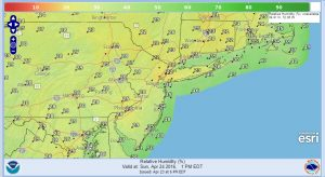 humidity Fire Risk Elevated Sunday