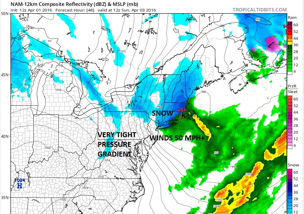 Snowfall Forecast Wind Forecast